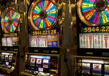 Photo of slot machines close-up in Las-Vegas Nevada