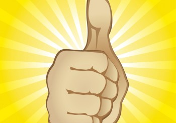 Thumb Up Gesture (editable vector). In the gallery also available XXL jpeg image made from this vector